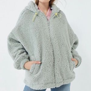 ISO Urban Outfitters Wilma Hooded Zip Teddy Jacket